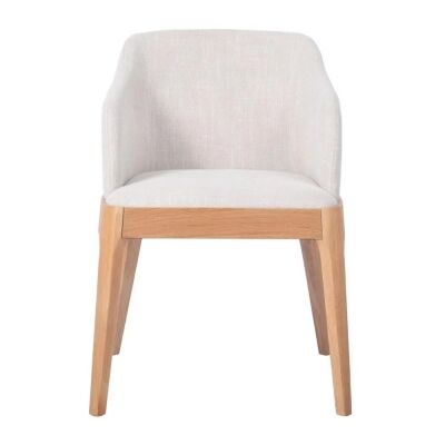 Hayes Fabric Dining Armchair, Oatmeal / Natural