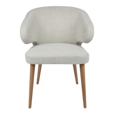 Harlow Linen Fabric Dining Chair, Oatmeal