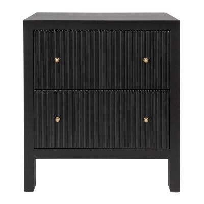 Ariana Bedside Table, Large, Black