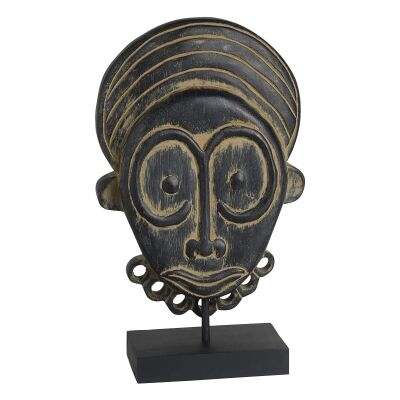 Mansell Mango Wood Mask Sculpture on Stand