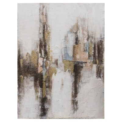 """""""Gilded"""" Stretched Textured Abstract Canvas Wall Art, 120cm"""