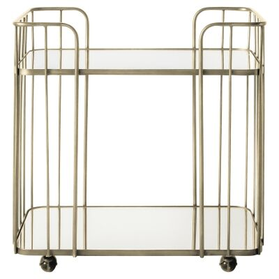 Vevang Iron Drinks Trolley, Champagne Gold