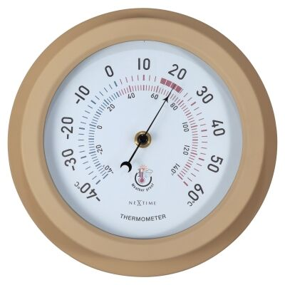 NeXtime Weatherstation Outdoor Round Wall Thermometer, 22cm