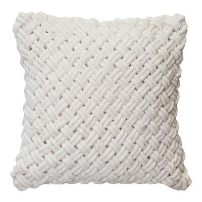 Mariah Cotton Woven Scatter Cushion, Ivory