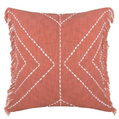 Indra Cotton Scatter Cushion, Clay Pink