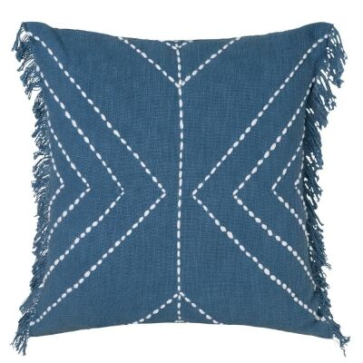 Indra Cotton Scatter Cushion, Steel Blue