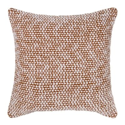 Brody Cotton Rich Scatter Cushion, Ivory / Ginger