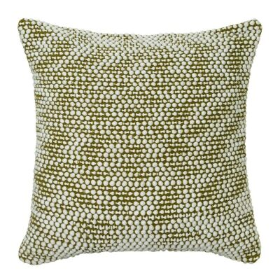 Brody Cotton Rich Scatter Cushion, Ivory / Olive