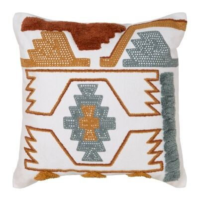 Ashlyn Embroidered Cotton Scatter Cushion