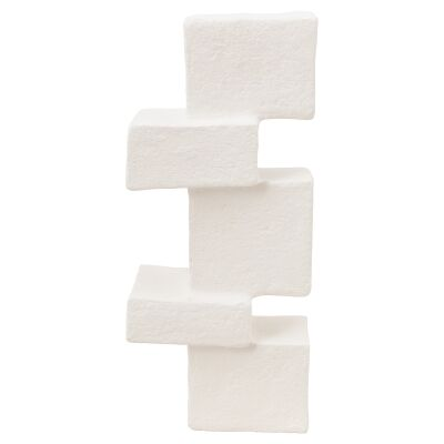 VTWonen Ecomix Recycled Paper Abstract Block Sculpture, Off White