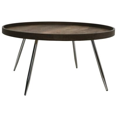 Legacy Wooden Tray Top Round Coffee Table, 78cm