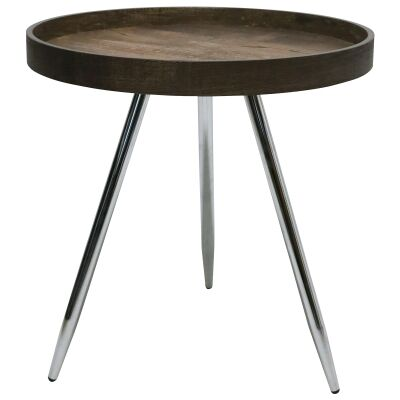 Legacy Wooden Tray Top Round Side Table