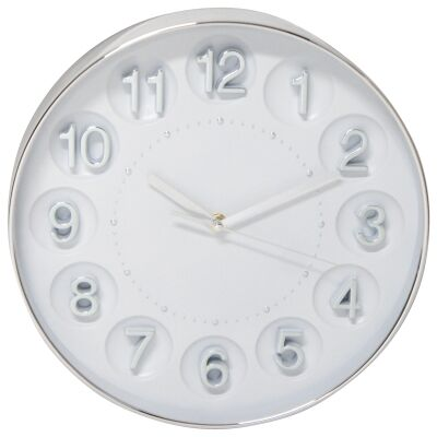 Kate Round Wall Clock, 31cm, Silver