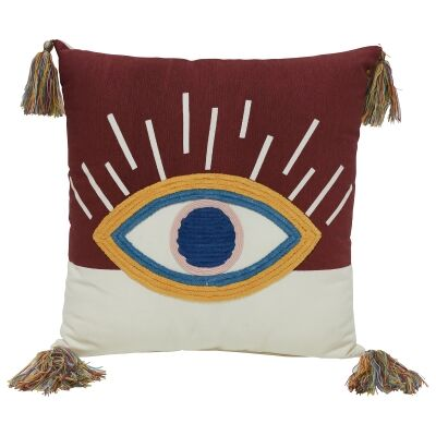 Third Eye Embroided Cotton Scatter Cushion
