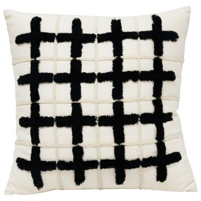 Cubed Embroided Cotton Scatter Cushion
