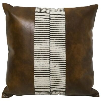 Christo PU Leather & Cotton Scatter Cushion