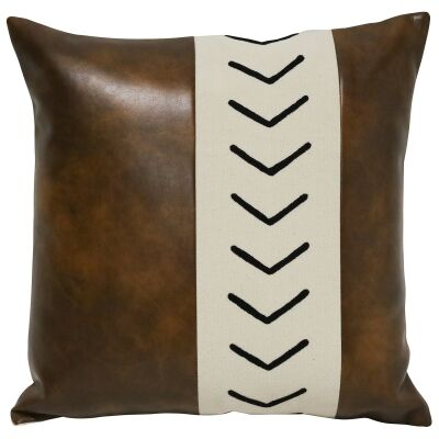 Cena PU Leather & Cotton Scatter Cushion