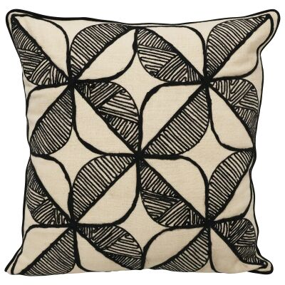Romina Flower Embroidered Cotton Scatter Cushion