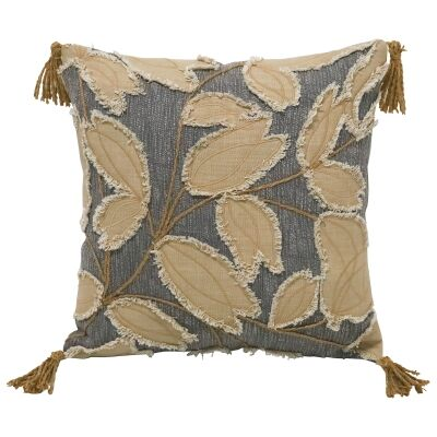 Willows Embroidered Cotton Scatter Cushion, 45x45cm