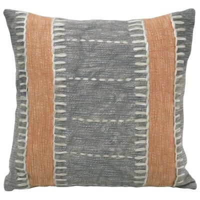 Khan Embroidered Cotton Scatter Cushion