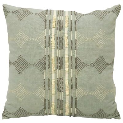 Tsubi II Embroidered Cotton Scatter Cushion
