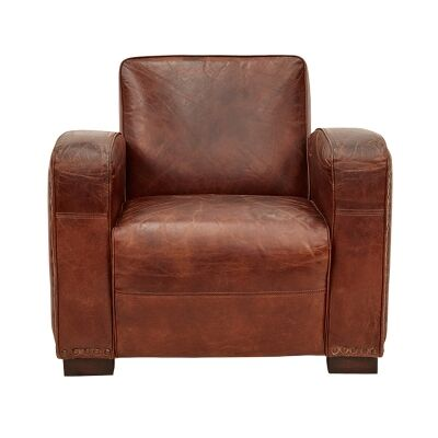 Guildford Aged Leather Club Armchair
