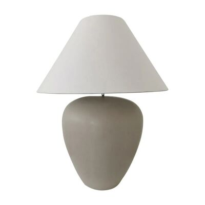 Picasso Ceramic Base Table Lamp, Taupe / White