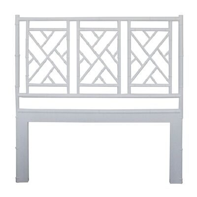 Chippendale White Cedar Timber Bed Headboard, King, White