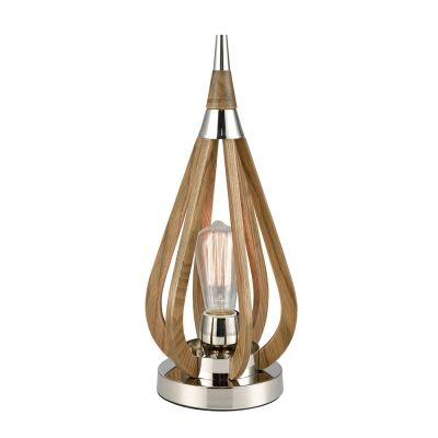 Bonito Wooden Frame Table Lamp, Taupe