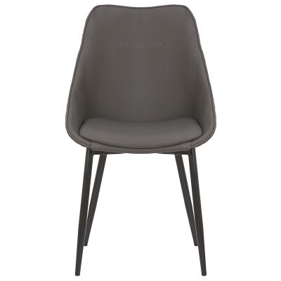 Bellagio Commercial Grade Faux Leather Dining Chair, Anthracite