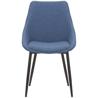 Bellagio Commercial Grade Fabric Dining Chair, Blue