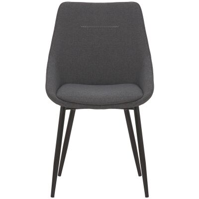 Bellagio Commercial Grade Fabric Dining Chair, Charcoal