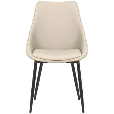 Bellagio Commercial Grade Faux Leather Dining Chair, Light Grey