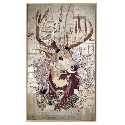 Kerr Framed Canvas Wall Art, The Stag, 100cm