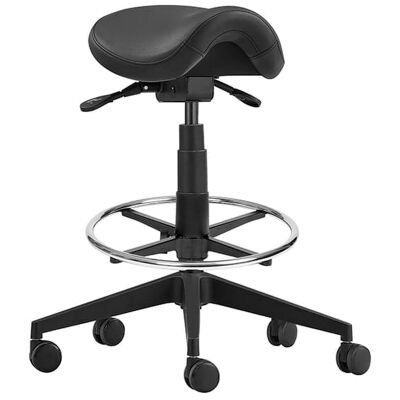 Cad PU Leather Drafting Industrial Stool, 60.5-72cm
