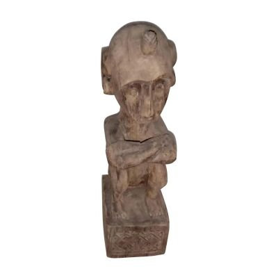 Yono Carved Wooden Figure Sculpture