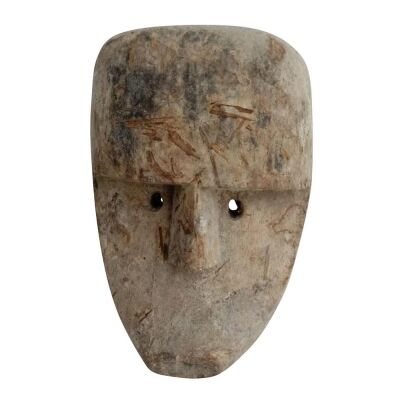 Asha Carved Wooden Mask Sculpture, Small