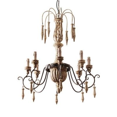 Alice Parawood & Iron Chandelier
