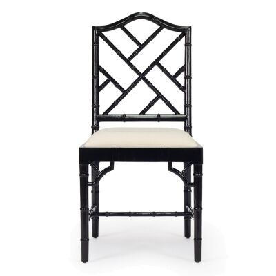 Chippendale Mahogany Timber Dining Chair, Black