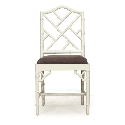 Chippendale Mahogany Timber Dining Chair, French Grey