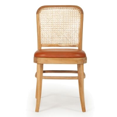 Lachlan Birch Timber & Rattan Dining Chair, Natural
