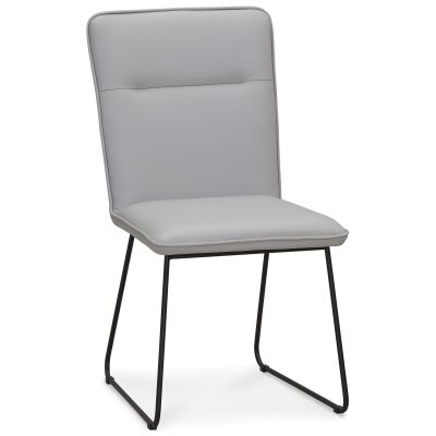 Kozino Leather Dining Chair, Pewter