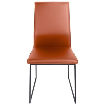 Istria Leather Dining Chair, Cotta