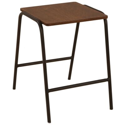 Ladder Commercial Grade Metal Table Stool, Set of 2