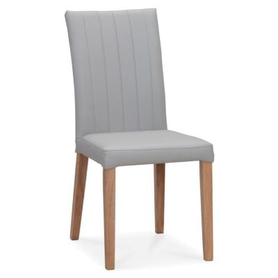 Rue Leather Dining Chair, Pewter