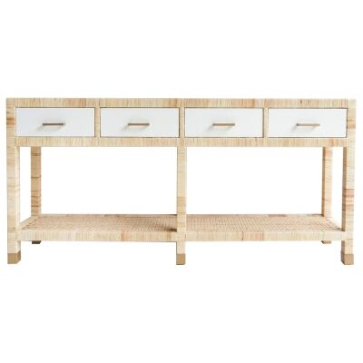Palms Rattan 4 Drawer Console Table, 185cm