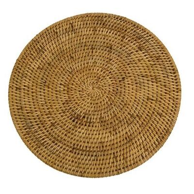 Coco Rattan Round Placemat, Natural