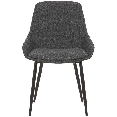 Como Commercial Grade Fabric Dining Chair, Charcoal