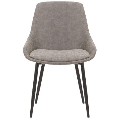 Como Commercial Grade Faux Leather Dining Chair, Grey