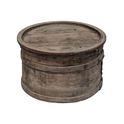 Jiabao 130 Year Antique Willow Timber Oriental Food Box, No.2007